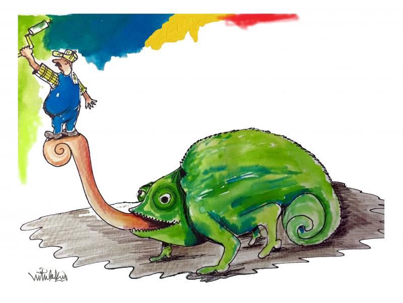 chameleon squirming