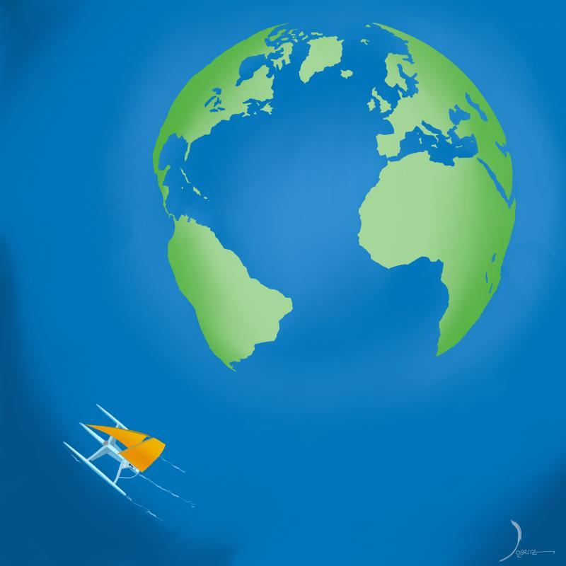 Course autour du monde en solitaire