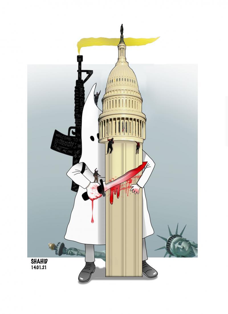 Ku Klux Klan beheaded the US Capitol !