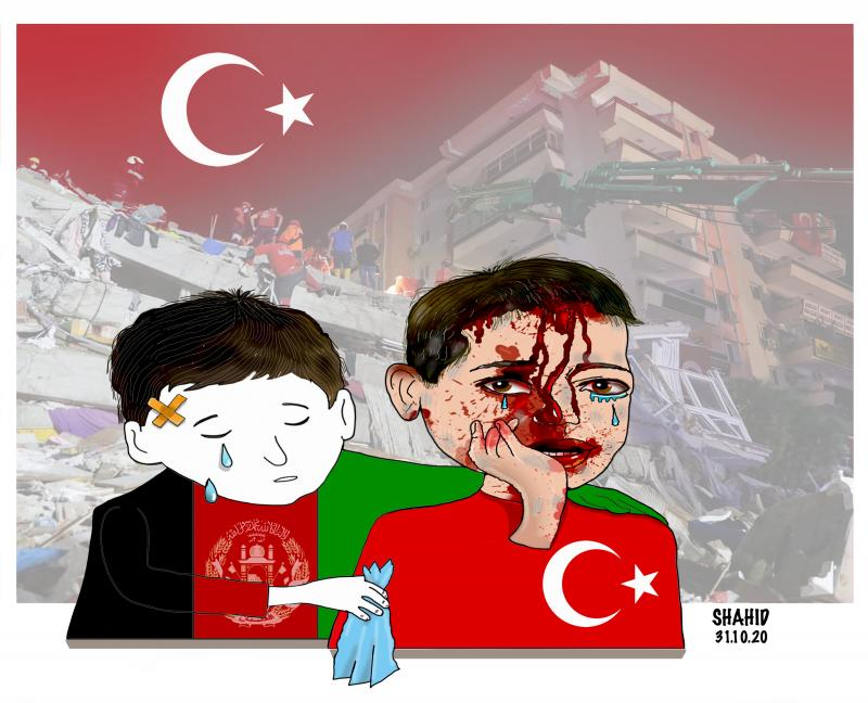 Izmir ! Wounded AFG shares your grief !