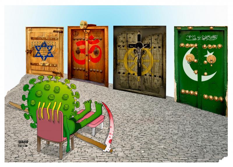 COVID Closed Religions Doors !