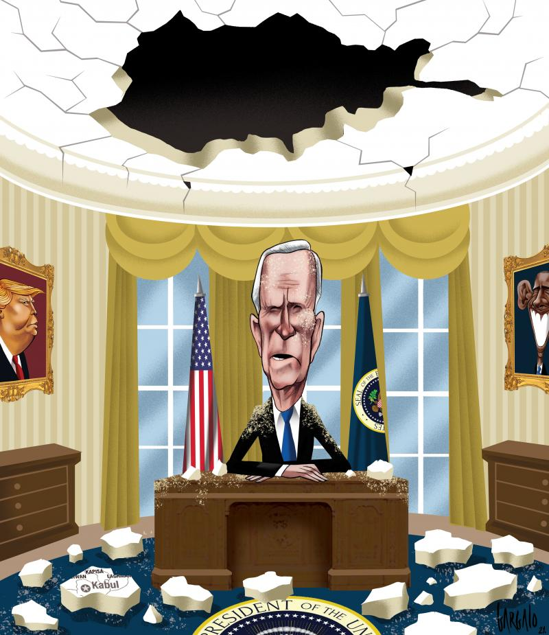 Cartoon about Biden and Afghanistan