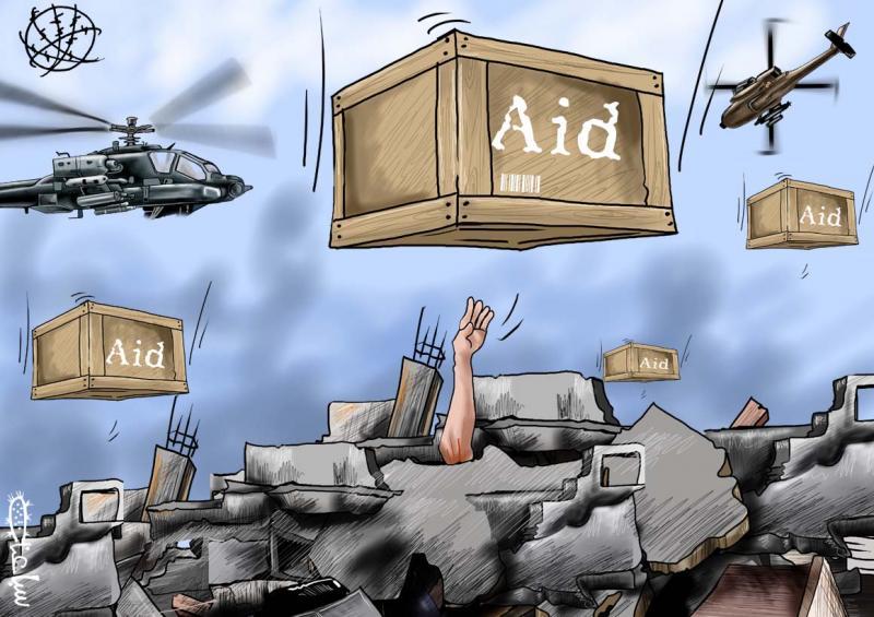 Cartoon about international aid