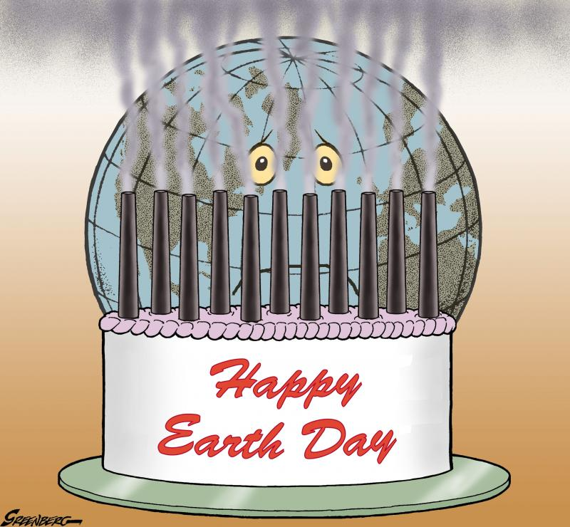 Cartoon about Earth Day