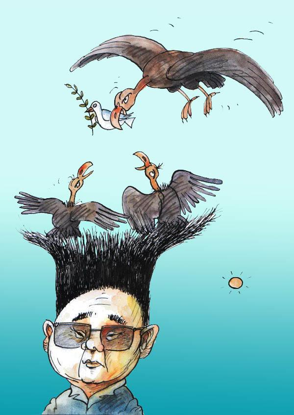 Cartoon about Kim Jong-il