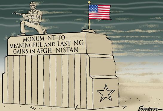 Cartoon about Afghanistan