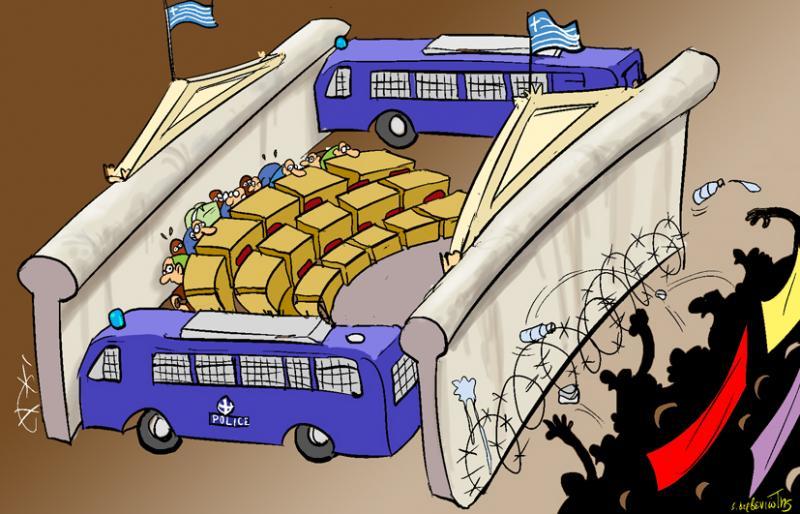 Cartoon about Greek Parliament