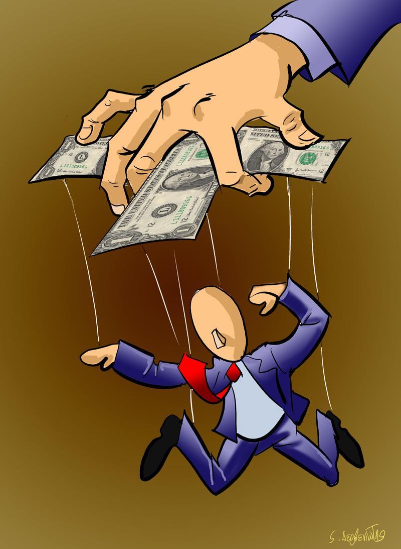 Cartoon about money