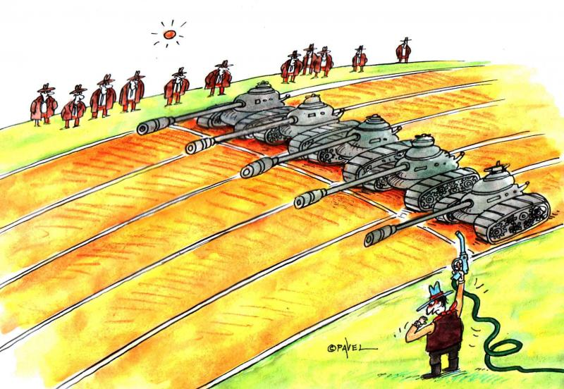 Cartoon about conflict and resources
