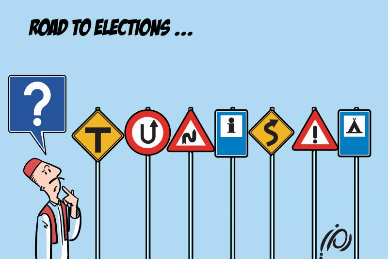 Cartoon about elections in Tunisia
