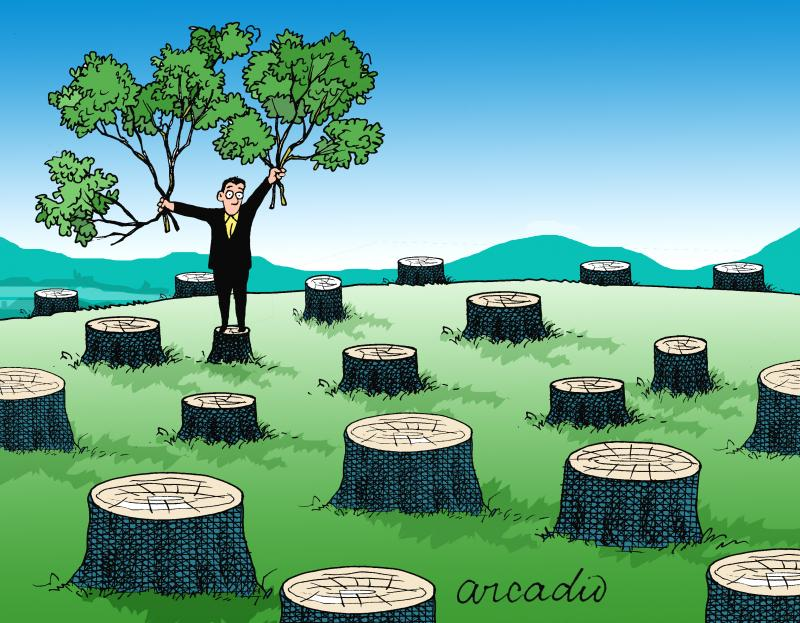 Cartoon about sustainability