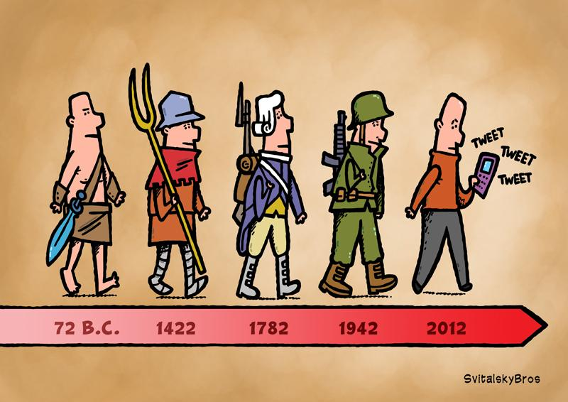 A History Of Freedom Fighters Cartoon Movement