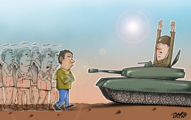 Cartoon about the football riots in Egypt
