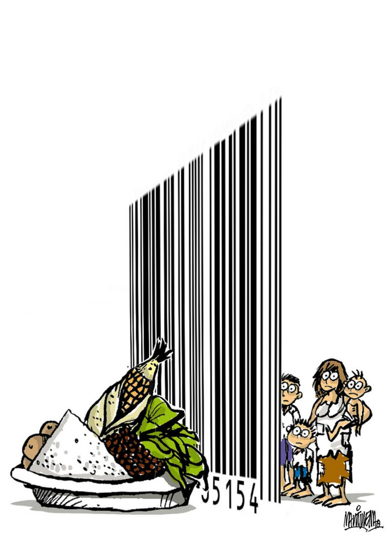 Cartoon about hunger