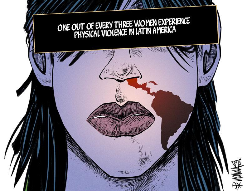 Cartoon about violence against women