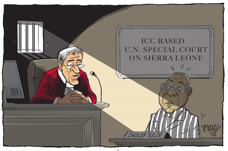 Cartoon about Charles Taylor