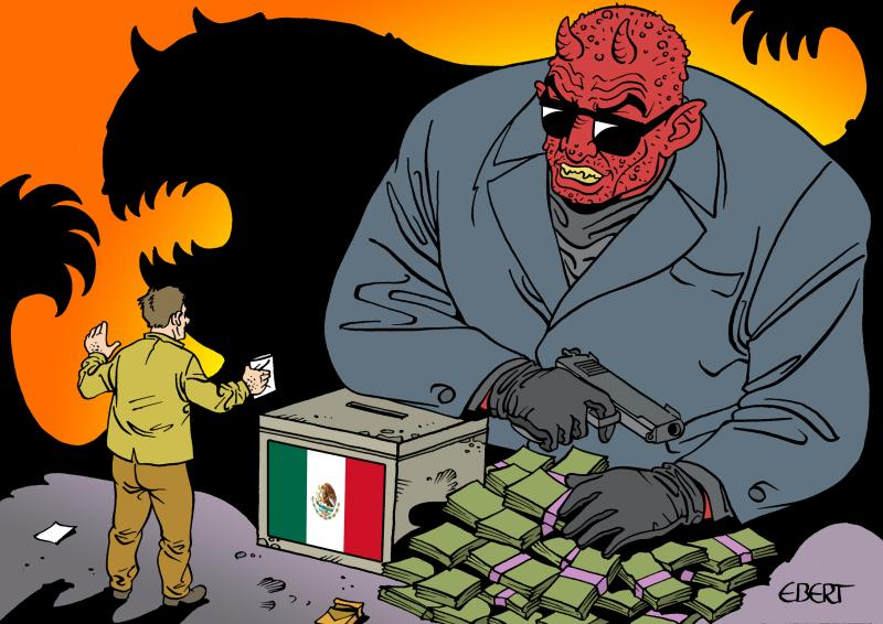 Cartoon about elections in Mexico