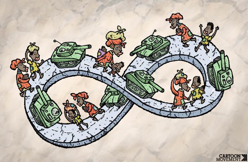 Cartoon about Africa