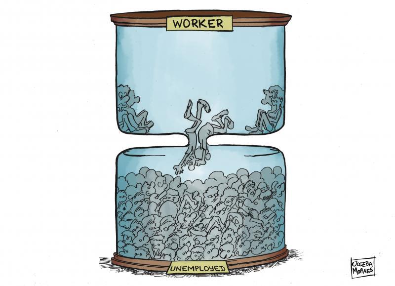 Cartoon about unemployment