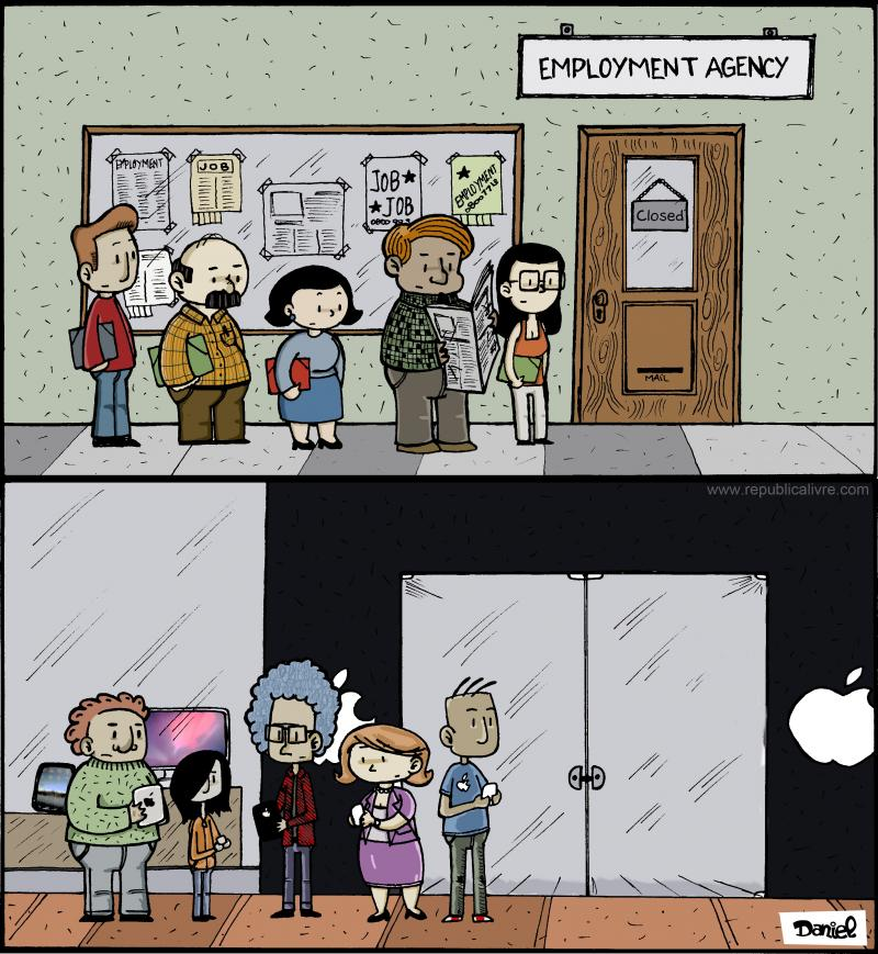 Cartoon about unemployment