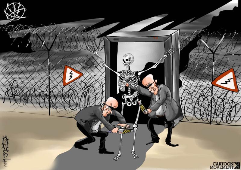 Cartoon about Palestine