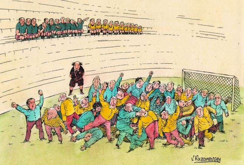 Cartoon about football