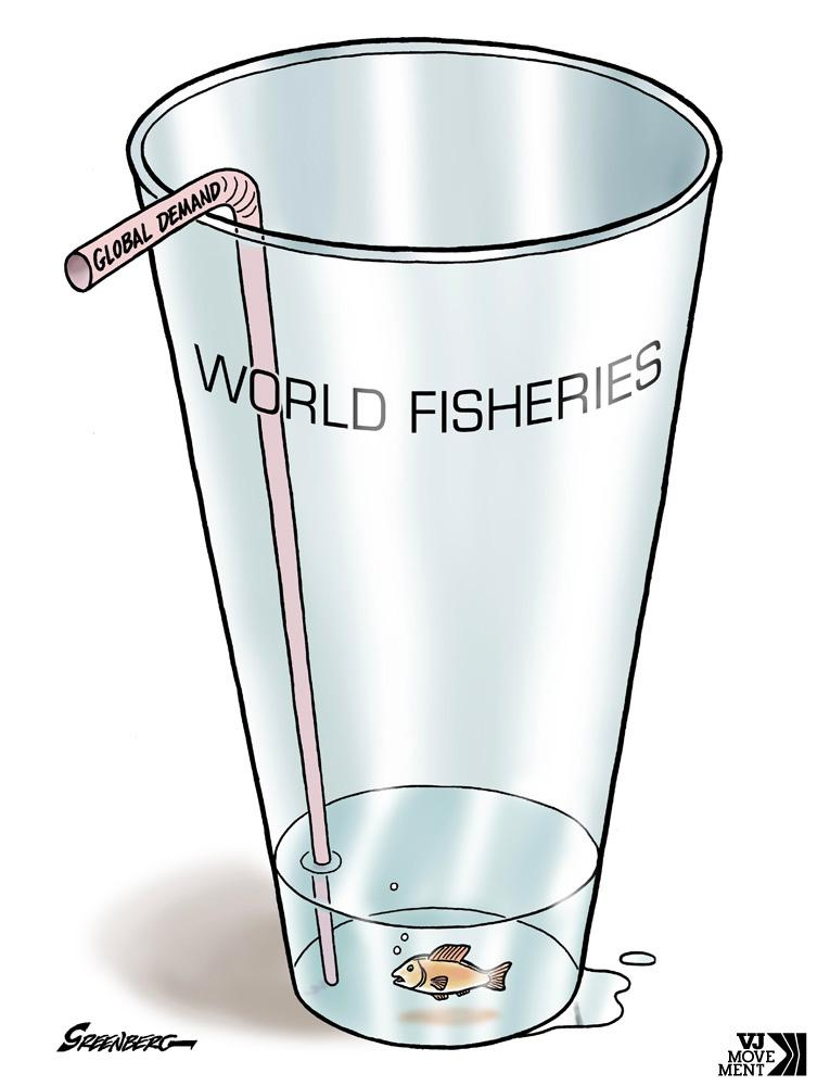 Cartoon about overfishing