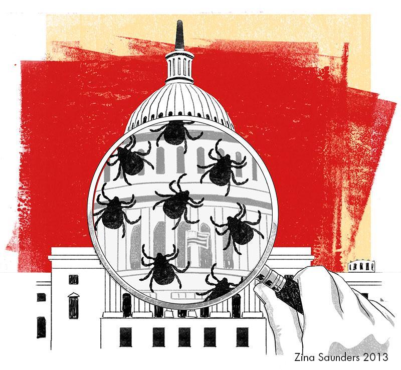 Cartoon about American politics