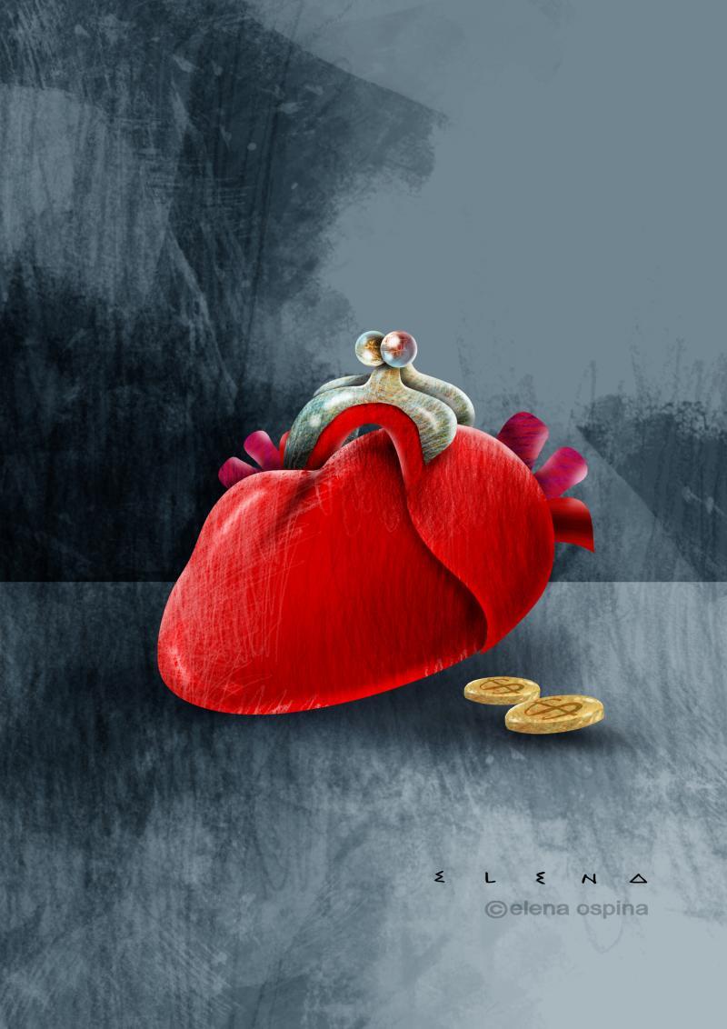 Cartoon about generosity