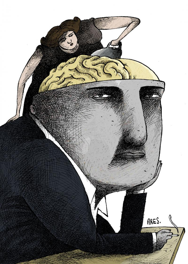 Cartoon about men and women