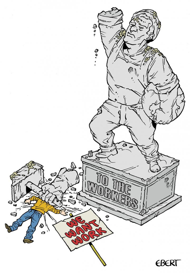 Cartoon about worker's rights