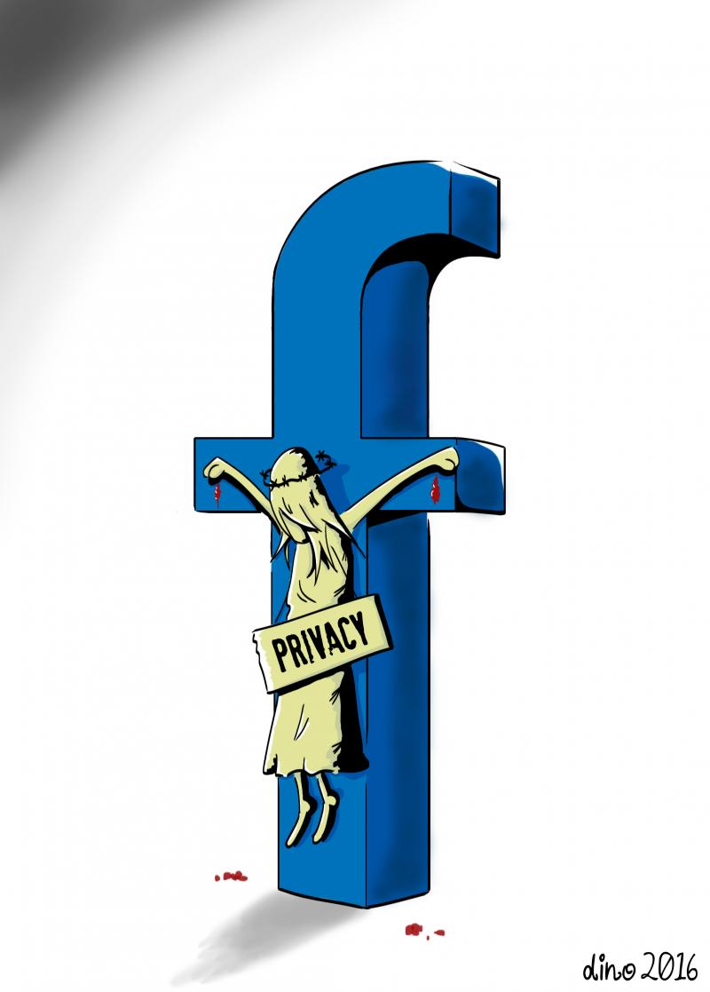 Cartoon about Facebook and privacy
