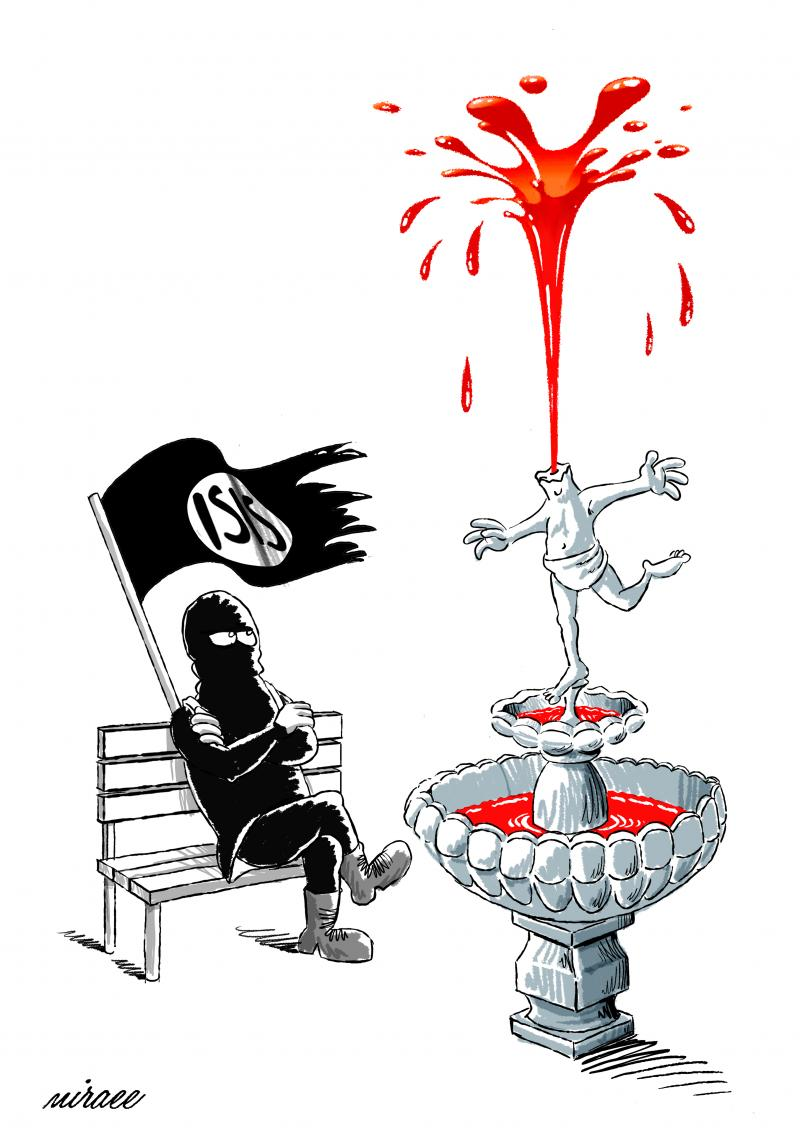Cartoon about Islamic State