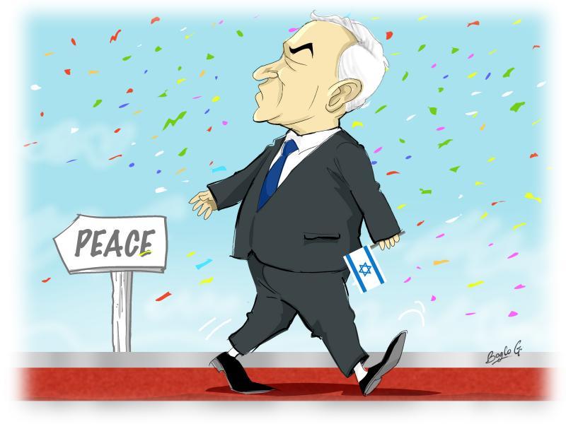 Cartoon about Netanyahu