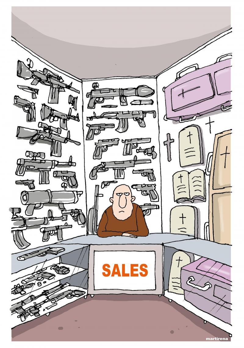 Cartoon about guns