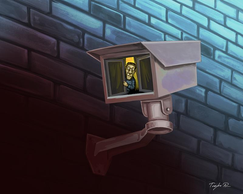 Cartoon about fear