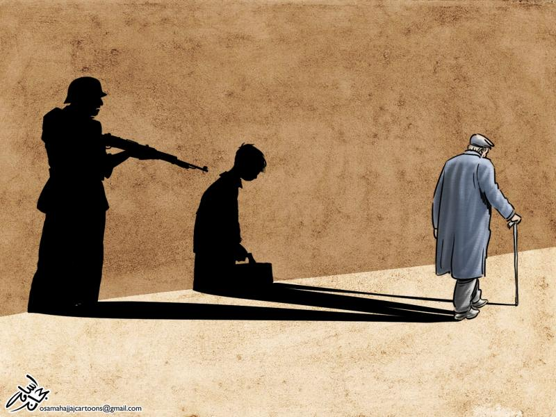 Cartoon about war and trauma