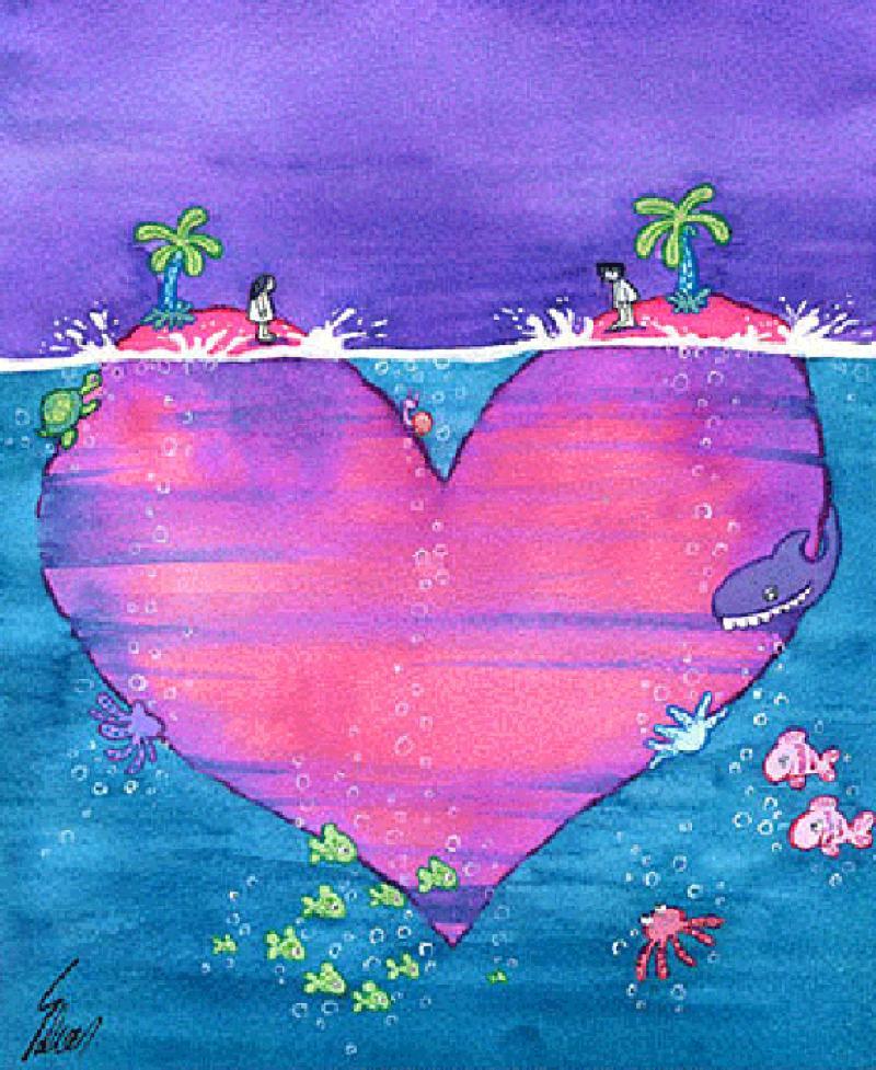 Cartoon about Valentine's Day