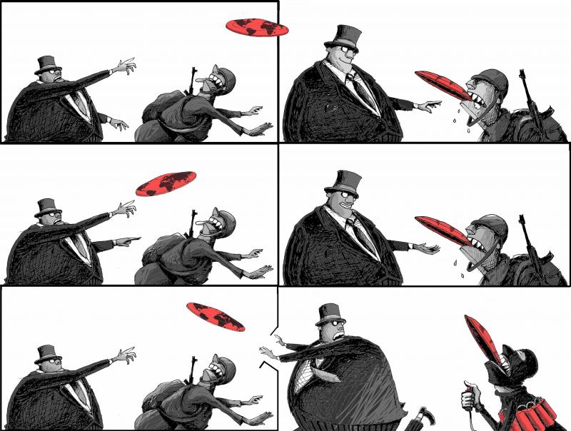 Cartoon about terrorism