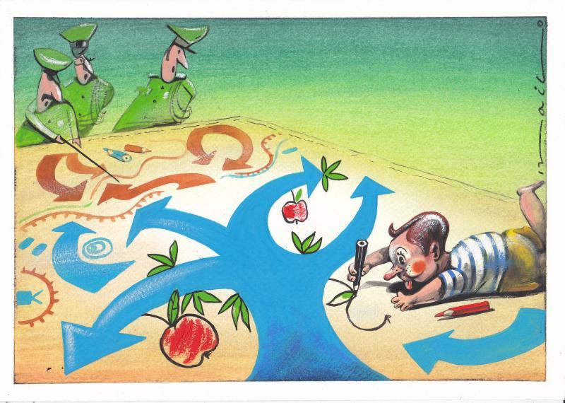 Cartoon about war