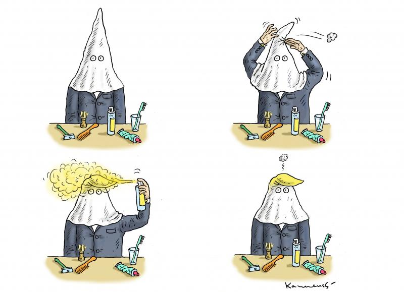 Cartoon about Trump and racism