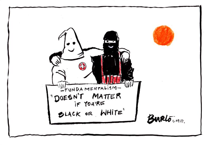 Cartoon about extremism