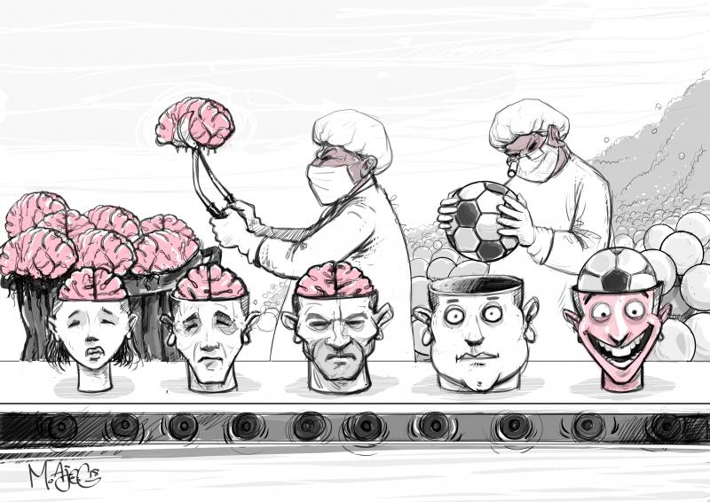 Cartoon about football