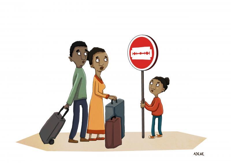 Cartoon about female genital mutilation