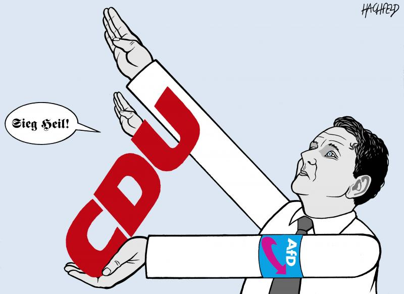 Breach Of Taboo In Germany Cartoon Movement