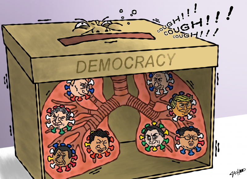 Cartoon about deocracy