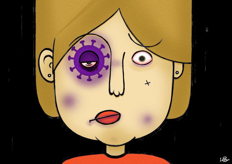 Cartoon about domestic violence