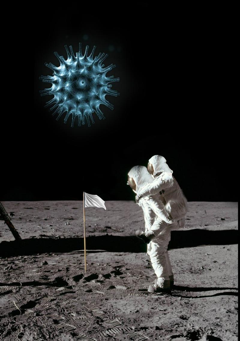 Goodbye earth cartoon by Ali Divandari on coronavirus.
