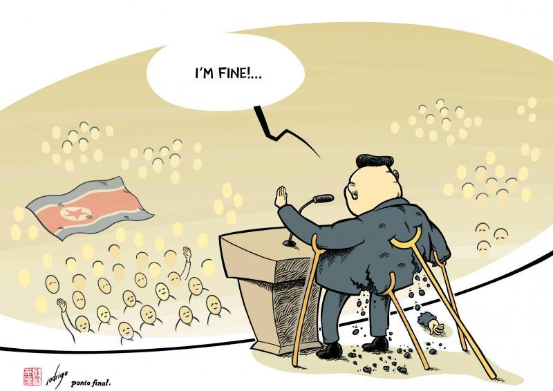 Cartoon about Kim Jong-un