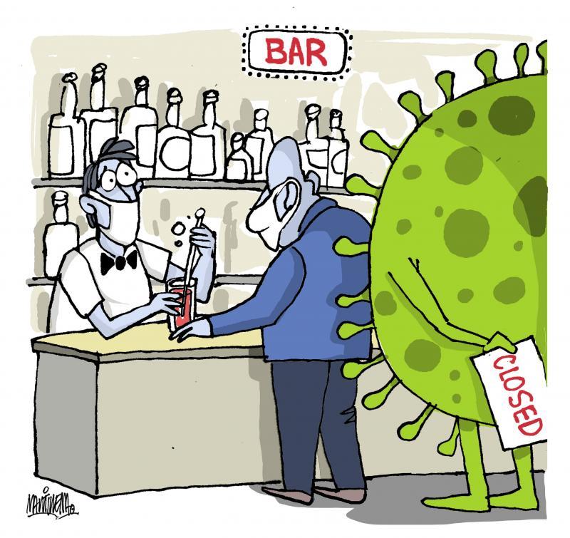 closing of bars due to coronavirus